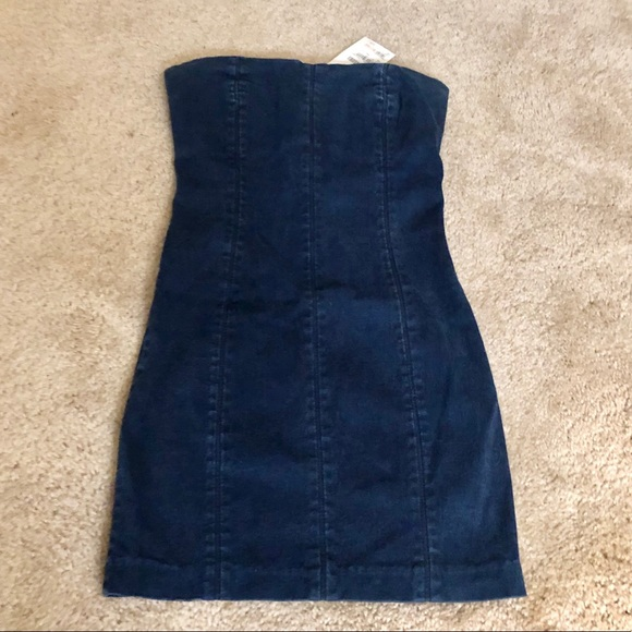 bebe Dresses & Skirts - NWT Denim Strapless Mini Dress from Bebe Size XS